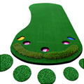 Lifelike Synthetic Puttting Green Artificial Grass Putting Green Indoor