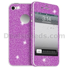 Simple Design Solid Color Custom Full Body Skin Glitter Sticker for iPhone 5/6/6+ (Hot Pink)