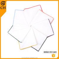 OEM Cloth Custom Woven 100 Cotton White Handkerchiefs
