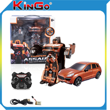 Best Christmas gift 2016 ! Remote Control Deformation Transform Boys Toys Robot Car