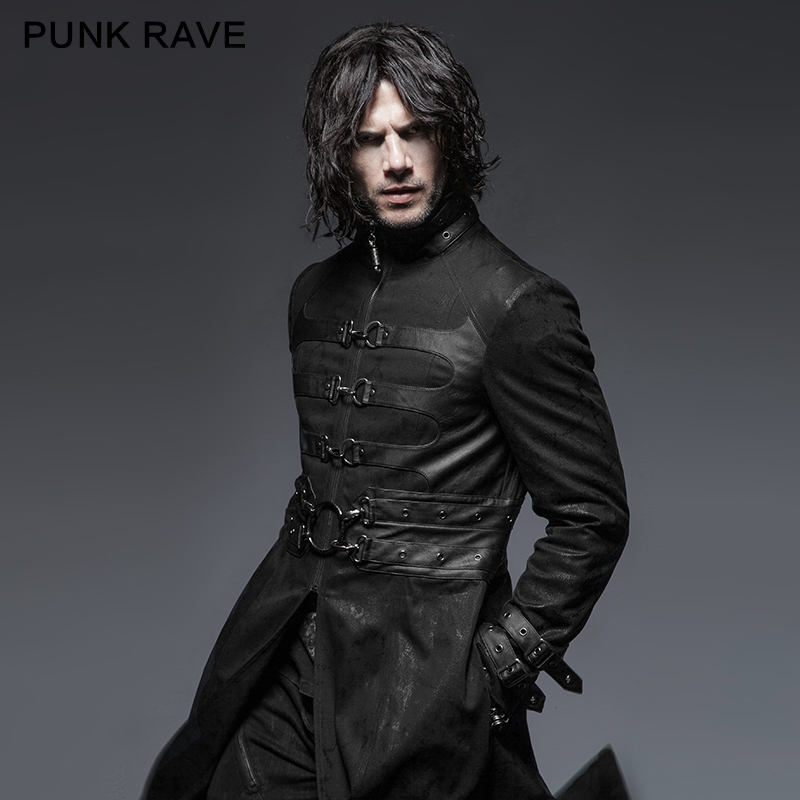 <strong>Y</strong>-633 Spring Vampire Buckle Cool Long man <strong>Coat</strong> from punk