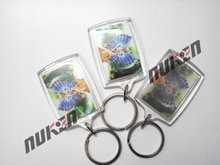 2016 fashion printed acrylic 3d keychain with rectangle shape