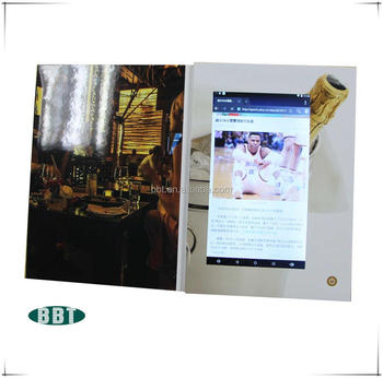 factory supply promotional 10 inch android video brochure with wifi function