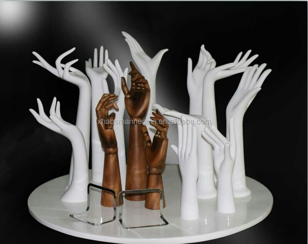 plastic PVC hands mannequin for rings,gloves jewelry stand
