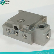 aluminum machining parts block valve for gas meter parts