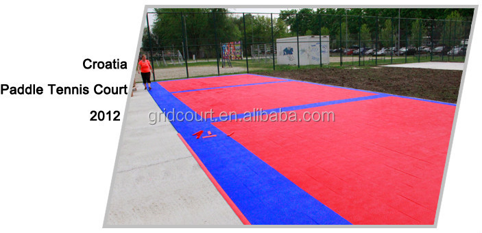 paddle tennis interlocking court