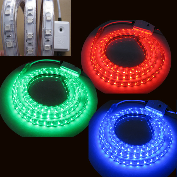double line rgbw 110V 220V flexible waterproof ul led strip
