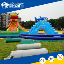 commercial inflatable water slides, inflatable floating water slide