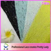Hottest design new arrival crochet french lace for wedding dress/factory wholesale lace