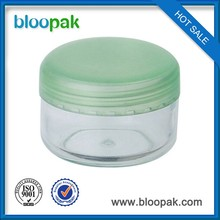 Cream jar, clear PS, cosmetic bottle packaging