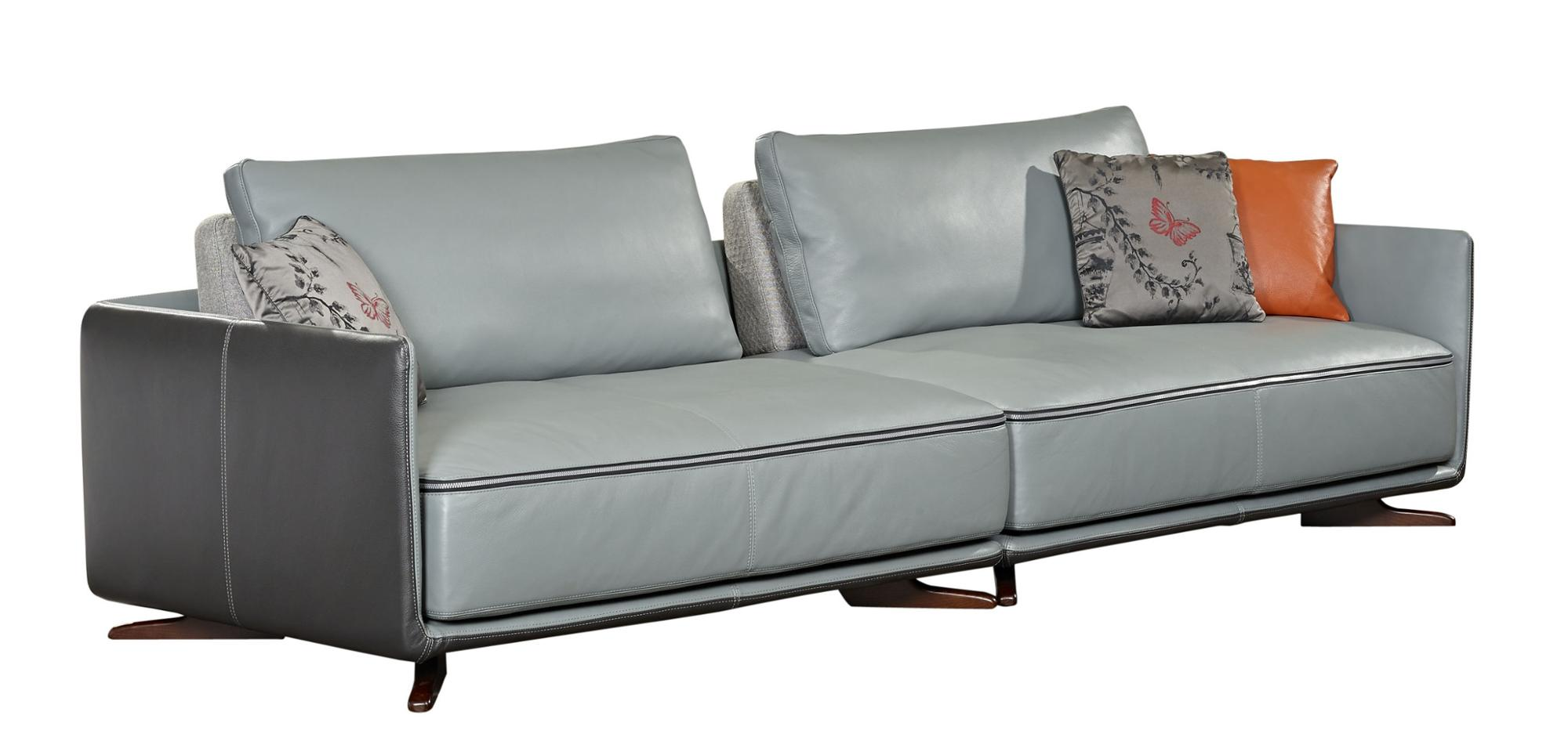 Italian Style Simple Design Modern Latest Leather Sofa Set With Meatal Frame