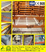 Industrial warehouse pallet rack wire decking/wire shelving