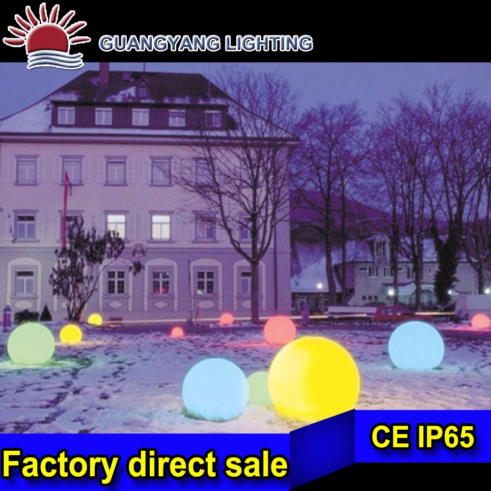 Dia 10-80cm waterproof plastic RGB light led ball for pool and grass lights