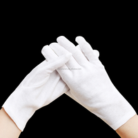 Glove factory sale cheap short white cotton hand gloves for working safety
