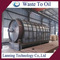 Top sale newest technology eco-firendly waste tire recycling to diesel machine