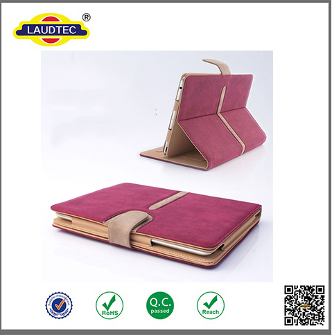 Suede Leather Smart Flip Case Cover for iPad 4 3 2 -----Laudtec