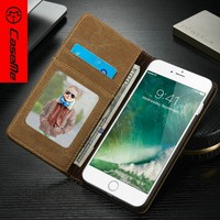 PU Leather Brown 360 Degrees Rotating Stand for colorful cases for iphone,women card holder case covers for iphone 7 plus