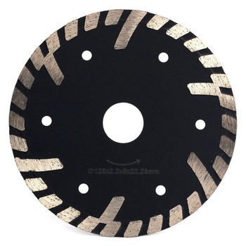 "5"" inch 125mm Diamond Granite Cutting Disc Enhanced Turbo Continuous Rim Diamond Saw Blade for Marble, Stone"