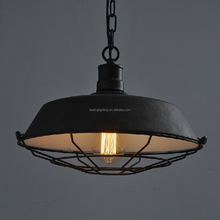 Hot selling America style vintage industrial pendant lamp with cage china factory