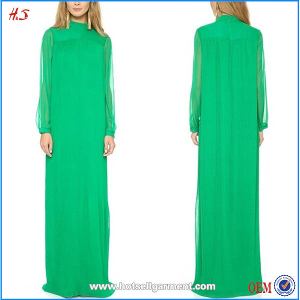 Fashion muslim clothing women dress pictures long sleeve dress floor length dress