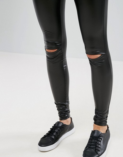 Newest Design Women Legging with Slit Knee High Quality