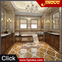 Foshan top 10 tiles factory Jinduo 80x80cm high gloss porcelain tile looks like marble