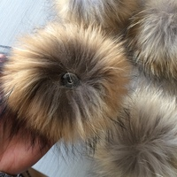 Wholesale China Factory Raccoon Fur 15cm Fur Pompom ball