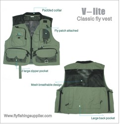 High quality professional mesh fly fishing vest