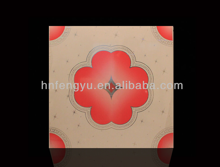 595*595 radiant hot stamping Pvc ceiling Panel made in china