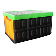 colourful plastic crate folding container apple crates wholesale pallet storage bins stackable tool box with hinged lid lock