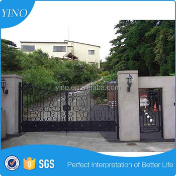 Beautiful And Cheap main door indoor iron pipe gate designs for home IG-1-005