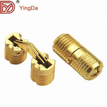 Hight quality invisible cylinder hinges/brass folding hinges for talbe