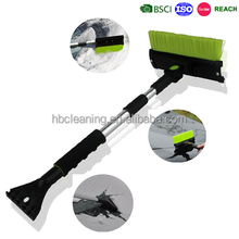 3 in 1 multifunctional telescopic snow brush with foam grip
