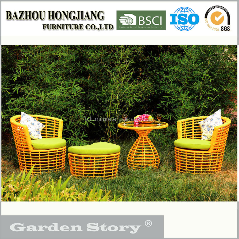 079S-2 Wholesaler PE Wicker Single Sofa with Tea Table for Outdoor Furniture