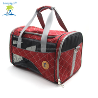 Lovoyager pet carrier car foldable luxury portable airline approved dog carrier travel bag