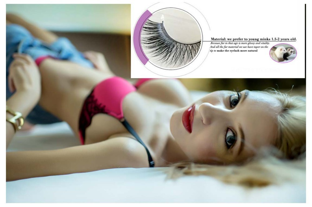 Top quality korean fiber big eye bottom eyelashes