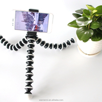 Min Flexible Octopus Tripod with Universal 1/4-inch Screw Mount for Phone and Digital, DSLR and Video Cameras