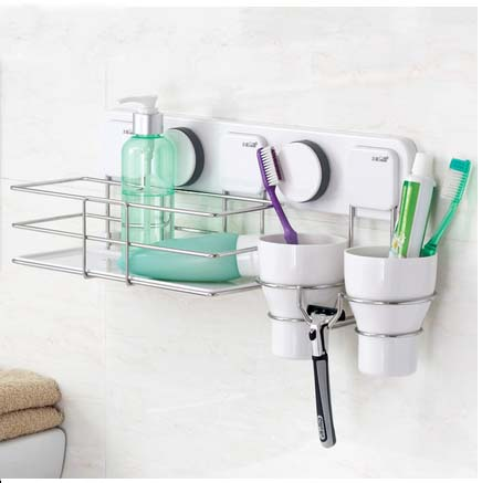 high quality stainless steel shelf/ suction hooks with razor hook