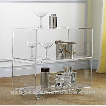 Two tier transparent acrylic furniture table chair/acrylic wedding table decoration for hot sale