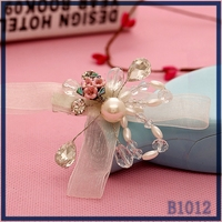 Wholesale simple design metal clips ribbon butterfly graceful ladies' fancy hair clips