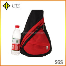 triangle backpack red sling bag for school