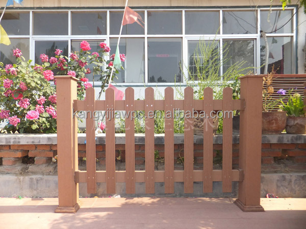 Decorative WPC wood- plastic composite railing fencing and door , WPC fence decking board