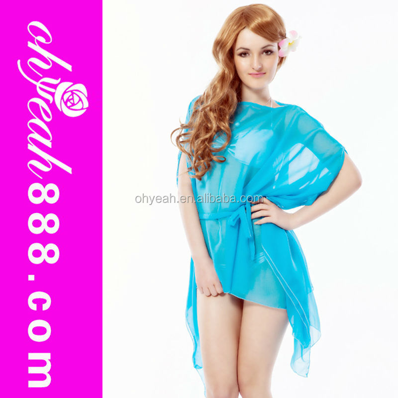 Slight Blue Nude Cool Fancy Soft Kaftan Beach Cover Up