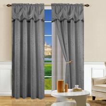 Macrame curtain luxury european style window curtain with valance curtain set