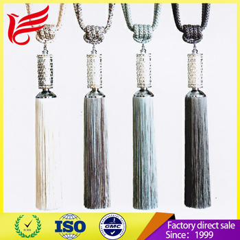 Long tassel tieback used for curtain accessory