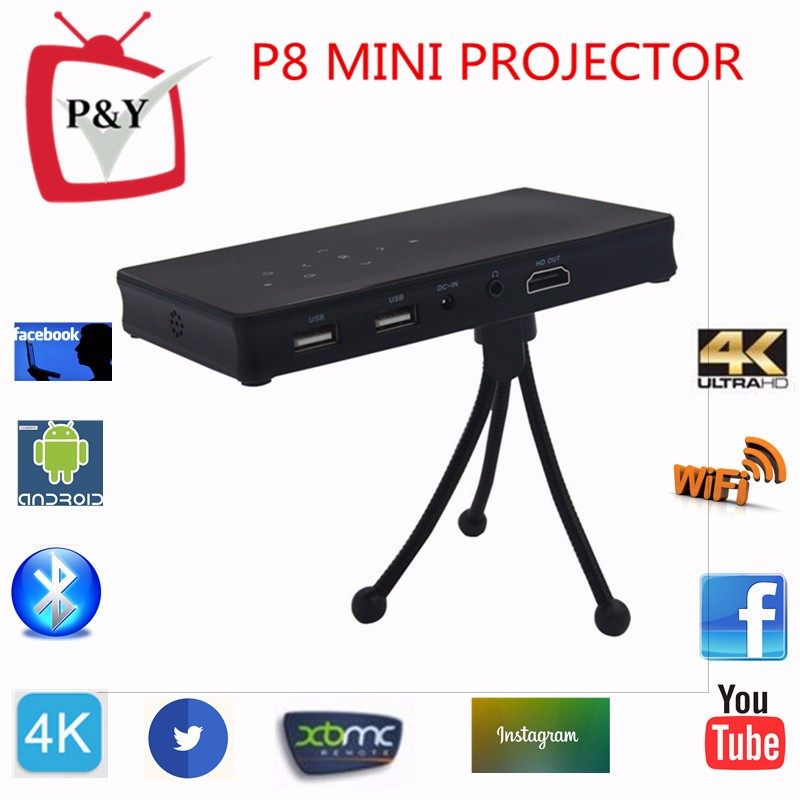 P8 Mini Projector Cheapest Home theater Projector Full HD 1080P Support 4K, H-DMI for Business, Education,