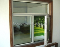 Two Sash Sliding Type Single Glazed Window In Low Price From Manufacture & NZ Fodoudou Aluminium Sliding Window