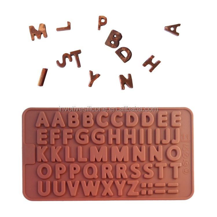 3D Alphabet Silicone Chocolate Molds Cake Decorating Mold Fondant Baking Mold