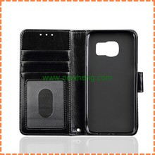 For Samsung Galaxy S7 Edge Crystal Crazy Horse Grain Photo Frame Card Slot Leather Case