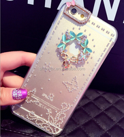 Bling diamong clear pc back cover case for iphone 6
